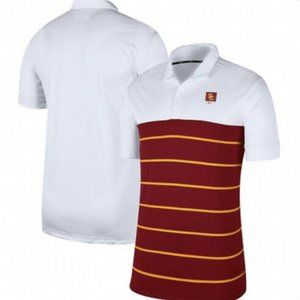 USC Trojans Striped Golf Polo Shirt Men's Small